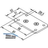 Deckenbefestigungsplatten HELM 150, Aluminium natur