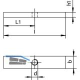 Aufschweißflansch HELM 393S, Stahl blank