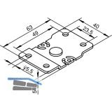 Deckenbefestigungsplatte HELM 73, Stahl verzinkt