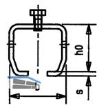 Übersteckmuffe f. bauseitige Schweißkonstruktion HELM 1104, M6 x 10, Stahl blank