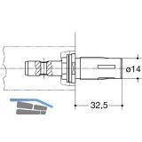 HEWI Befestigungszubehör BA 5.2 gerade - TS 40 - 50mm, Stahl verz.