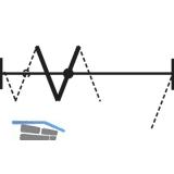 HAWA-Centerfold 80/H Zusatzgarnitur, ohne Führung