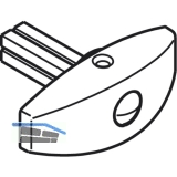 Drehgriff HAWA, TS 35 - 40 mm, Messing vernickelt matt