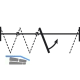 Drehtürgarnitur HAWA-Variofold 80/H an Faltpaket, ohne Laufwerk und Drehlager