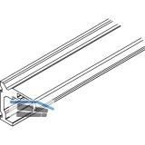 Winkelprofil-Wandbefestigung HAWA-Junior 40, 2000 mm, TS-44 mm, silber eloxiert
