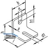 Winkelbefestigung HELM 104 W einfach, Stahl gelb passiviert