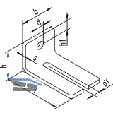 Winkelbefestigung HELM 104 WD doppelt, Stahl gelb passiviert