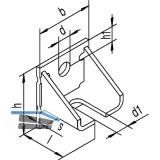 Winkelbefestigung HELM 404 W einfach, Stahl gelb passiviert