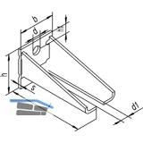 Winkelbefestigung HELM 404 WD doppelt, Stahl gelb passiviert