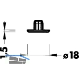 Abdeckkappe zu Sockelversteller 306, Kunststoff schwarz