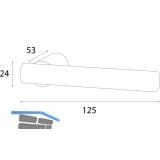 HÖRTNAGL Drückerpaar Imst, Ansatz 18 mm, verzinkt schwarz passiviert