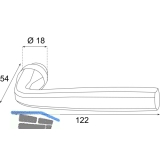 HÖRTNAGL Drückerlochteil HALL - Ansatz 18 mm, verzinkt schwarz passiviert