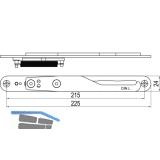 IMH-ABS Mitnehmerhaken GF UNI 24 V Gr.1, 225 x 24 mm,schwarz verzinkt,DIN links