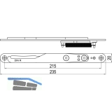 IMH-ABS Mitnehmerhaken GF UNI 20 V Gr.1, 235 x 20 mm,schwarz verzinkt,DIN rechts
