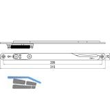 IMH-ABS Mitnehmerhaken GF UNI 20 V Gr.2, 315 x 20 mm,schwarz verzinkt,DIN links