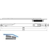 IMH-ABS Mitnehmerhaken GF UNI 20 V Gr.2, 315 x 20 mm,schwarz verzinkt,DIN rechts
