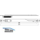 IMH-ABS Mitnehmerhaken GF UNI 24 V Gr.2, 315 x 24 mm,schwarz verzinkt,DIN links