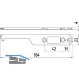 IMH-ABS Mitnehmerhaken SF, 164 x 23 x 4 mm, universal, DIN, schwarz verzinkt