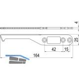 IMH-ABS Mitnehmerhaken SF, 164 x 25 x 4 mm, universal, DIN, schwarz verzinkt