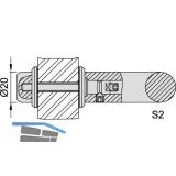 KWS Befestigungszubehör S2 - 20mm, M 6 x 45, Edst.