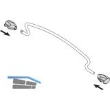 VAUTH-SAGEL Korbeinteilung, 150er Körbe 90°, silber RAL 9006