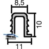 GST Innenfront Einfach- Laufschiene oben, 11 x 8, 5, Aluminium eloxiert