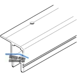 HAWA Multifold 30 Laufschiene Länge 2500 mm, Aluminium farblos eloxiert
