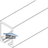 Laufschiene HAWA-Junior 250, 4000 mm, Aluminium farblos eloxiert