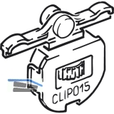 CLIPO 15 SH - Laufwerk zum Einclipsen, 19 x 16, Kunststoff anthrazit