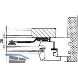 Ladenverschluss Rustico 1-flg. m. Arretierung, links, schwarz (14030)