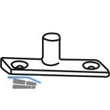 Schließzapfenplatte Rustico für Standardanschlag oben/unten, schwarz (94137)