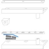 Schließzapfenplatte Rustico für Läden mit Abstand 10 mm, schwarz (14021)