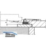 Unterlage MACO Rustico für Ladenplattenkloben, 3 mm, schwarz (41882)
