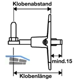 Verstellkloben o.Haltekonsole f. gekröpfte Bänder, Gr.L85, 85 mm,schwarz(56841)