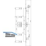 MFV-Schloss Maco G-TS PT i.S, DM 55 mm,Stulp 2400 x 16 x 3 mm eckig,silberfärbig