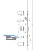 MFV-Schloss Maco Z-TF PT MF-i.S, DM 65,Stulp 2400 x 16 x 3 mm eckig,silberfärbig