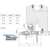 Dichtung Türschwelle für Transit 58 - 76, 2500 mm, silber eloxiert