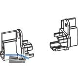 Endstücke Transit 58 - 76 für Flügeldichtung Falz 12 mm, Kunststoff schwarz-grau