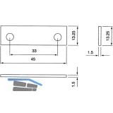 Unterlegplatte zu Schließblech, eckig, Stärke 1,5 mm, Kunststoff weiß