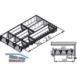 BLUM ORGA-LINE Besteckeinsatz/Facheinteilung Set ZSI.XXXMI3, Nennlänge 450 mm