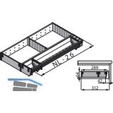 BLUM ORGA-LINE Besteckeinsatz/Facheinteilung Set ZSI.XXXKI3N, Nennlänge 450 mm