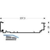 PS40 - Laufschiene oben, 3850 auf Maß, Aluminium natur eloxiert