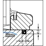 Glasleistendichtung AC 5587 D, Kunststoff braun