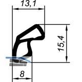 Dichtungsprofil AC 6063 für VOEST Stahlzarge Kunststoff schwarz