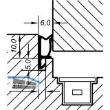 Überschlagdichtung ACF 5473 H, Kunststoff anthrazit