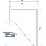 Durchwurfbriefkasten gerade, 300x330x245 mm, Mauerstärke 265 mm, Stahl verzinkt