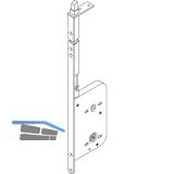 Schiebetür Stangenschloss Silent Stop, WC, DM 60, Stulp 315 x 16 mm, verzinkt