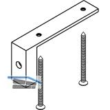 EKU DIVIDO 100 Adapter für Holztüren-Bodenführung, Kunststoff anthrazit