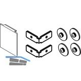 EKU DIVIDO 100 Blendenendstück-Set für Wandmontage,51 x 60 mm,Aluminium eloxiert