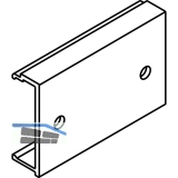 DIVIDO 100 H Clipteil gelocht, für Holzblende, 9,5 x 29 x 97, Aluminium eloxiert